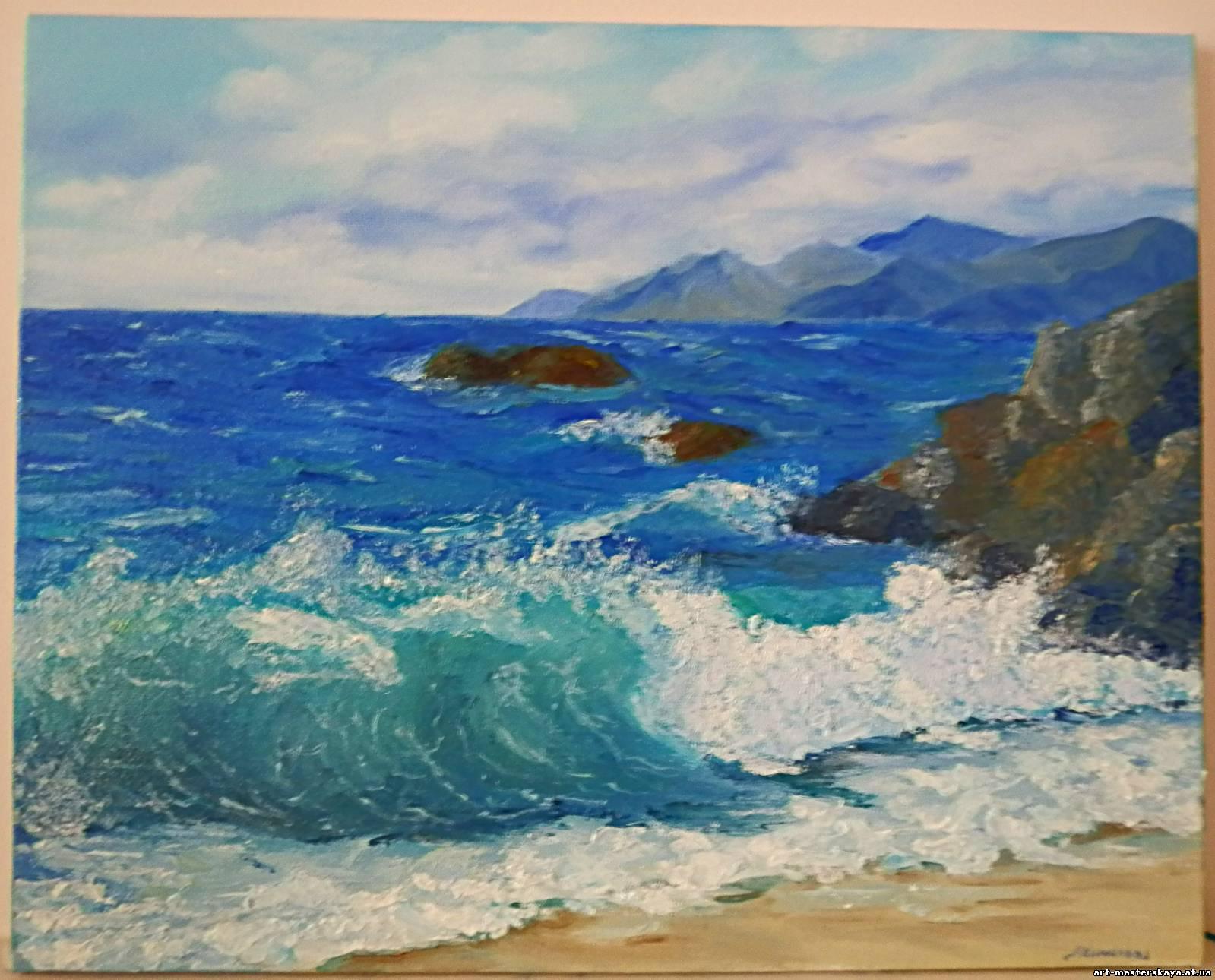 Рисунок морской пейзаж карандашом 3
